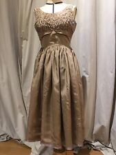 Vintage Rhinestone Studded Party Dress 50's 60's Size 6