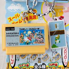 Nintendo Super Mario Famicom Cassette Miniature Figure Key Chain NES JAPAN 1