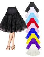 Petticoat tutu crinoline hoopless underskirt prom 50s Swing Vintage dress skirt