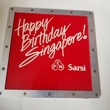 F&N Fraser&Neave Happy Birthday Singapore - advertisement slide image projection