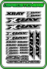 XRAY RC A5 STICKER SHEET NT1 T4 XB9 RX8 ELECTRIC NITRO CAR DECALS R/C BLACK W