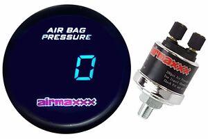Digital Air Ride Gauge 200 psi Display Air Suspension System Part Tinted LED
