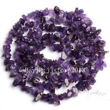 "6-8mm Natural Amethyst Freeform Chip Shape DIY Gemstone Loose Beads Strand 34"""