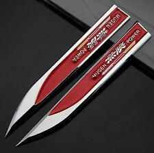 2pcs 3D Metall Auto Fenders Schriftzug Aufkleber Emblem für Dolch Rote MUGEN NEU