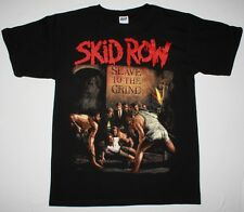 SKID ROW SLAVE TO THE GRIND'91 GLAM ROCK SKIDROW DOKKEN RATT NEW BLACK T-SHIRT