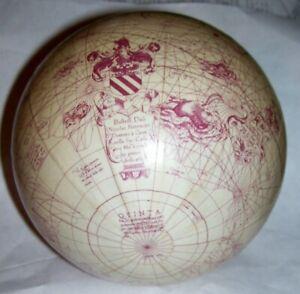 "5"" modern reproduction red 1541 Gerard Mercator world atlas Globe   trade routes"