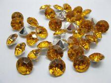 1000 Diamond Confetti 8mm Wedding Table Scatter-Yellow