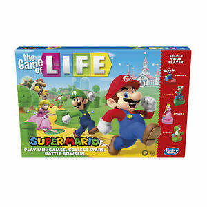 The Game of Life: Super Mario Edition Board Game for Children Aged 8 and Up