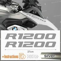 2pcs Adesivi Argento compatibile Moto BMW R 1200 GS LC R1200 ADVENTURE R1200GS