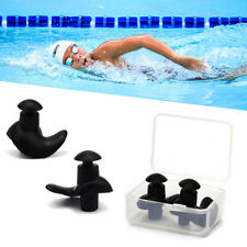 5/10 Pairs Silicone Ear Plugs Waterproof Hypo-allergenic Earplug Swimming w Case