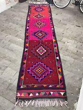 FREE SHIPPING! Long Turkish Rug 2.9x12.5ft Hereke Kilim Runner Rug Vintage Kars