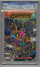 CRISIS ON INFINITE EARTHS #12 CGC 9.4  WALLY WEST FLASH DEATH OF DOVE WHITE PGS