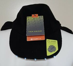 Tek Gear Winter Hat with Ear Flaps and 5 LED Lights in Visor