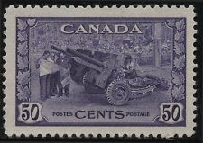 Canada 261 50c violet King George VI War Issue Munitions Factory(1942) MH