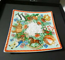 """Versace Rosenthal MERRY CHRISTMAS  5 5/8"""" Tray, 2011, New in Box"""