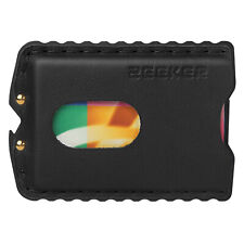 Slim EDC Wallet Aluminum Leather Credit Card Holder for Men-black Metal