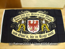 Fahnen Flagge DDR Brandenburg Hüte dich vor Sturm Wind - 90 x 150 cm