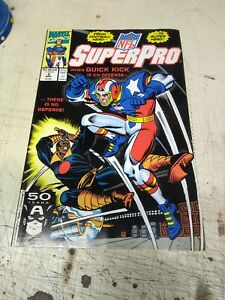 MARVEL COMICS NFL SUPERPRO VOL 1 NO 2 NOV 1991 50-YRS CAPTAIN AMERICA