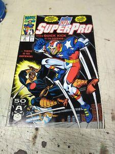 MARVEL COMICS NFL SUPERPRO VOL 1 NO 2 NOV 1991 50-YRS CAPTAIN AMERICA