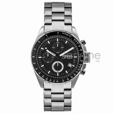 Fossil Authentic Watch Men's CH2600 Black 44mm Decker Stainless Steel Chrono