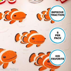 Clownfish Tub Tattoos Non Slip Safety Bathtub Stickers Adhesive Treads 5 ct