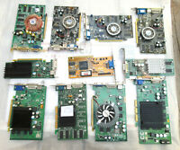 LOT of 11 VIDEO CARDS.  7 PCI-E and 4 AGP. Not all dead but need repair or parts