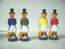 2005 Jim Beam Club Huntsman Fox Salt & Pepper Shakers 1 set Of Each 2 Sets Total