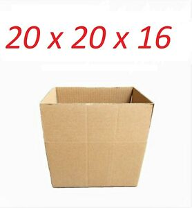 5 20x20x16 Cardboard Paper Boxes Mailing Packing Shipping Box Corrugated Carton