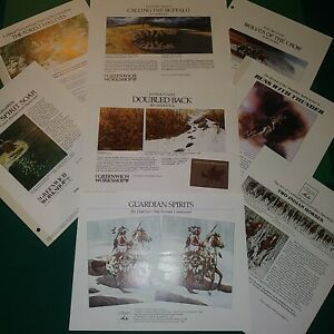 """BEV DOLITTLE, GREENWICH WORKSHOP NEW RELEASE CARDS AND SHEETS, 8.5x11"""", NEW NM-M"""