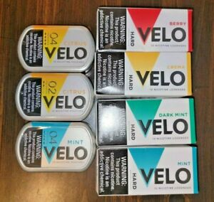 Velo Nicotine Lozenges and Pouches - Lot of 7 Containers