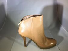 New Women's Daniblack Morton Leather booties in Nude size 10M