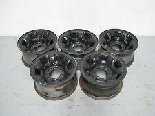 "Set of 5 Nissan Patrol GU Black Wheel Rims 6 Stud 16"" X 8"""