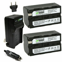 Wasabi Power Battery (2-Pack) and Charger for Sony NP-F730, NP-F750, NP-F760,