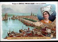 IMAGE CHROMO CHOCOLAT POULAIN / COSTUME du POITOU / PORT de LA ROCHELLE