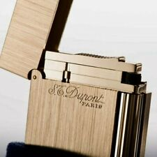 S.T. Dupont Ligne 2 Brushed Gold Atelier Lighter, 16125 (016125), New In Box