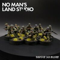 Pro Painted 28mm Bolt Action Waffen ss squad ×10 Ww2 Warlord Games