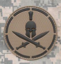 3D PVC RUBBER SPARTAN ARMY ISAF MILSPEC ACU DARK VELCRO® BRAND FASTENER PATCH