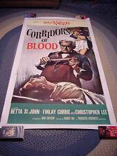 CORRIDORS OF BLOOD 3sh 41 X 81 BORIS KARLOFF horror LB