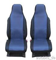 2 Sitzbezüge  Schonbezüge blau schwarz