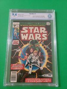 Star Wars #1 CBCS 9.6 🪐 1977 Newsstand 1st Luke Skywalker Darth Vader CGC it🔥