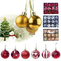 12pcs Christmas Tree Ball Baubles Decoration Xmas Hanging Party Ornament_HOT