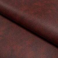 Upholstery Fabric Faux Leather Leatherette  Fabric Material - Marble OXBLOOD RED
