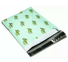 """50 Designer Poly Mailers Plastic Envelopes Shipping Bags 6"""" X 9"""" Cactus"""