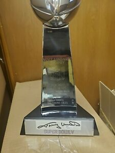 JOHNNY UNITAS AUTOGRAPHED BALTIMORE COLTS SUPER BOWL V TROPHY
