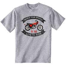 YAMAHA TX 750-Nuova T-Shirt grigio Cotone-Tutte le taglie in magazzino
