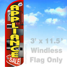 APPLIANCE SALE - WINDLESS Swooper Flag 3x11.5 Feather Banner Sign - rq