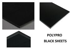 "Black Polypropylene Prosthetic Stress-Relieved Plastic Sheet 1/8"" x 48"" x 96"""
