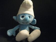 "Smurf Plush Stuffed Animal 9"" Blue From Smurfs Movie Boy Smurf Soft & Cuddly"