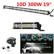"Waterproof Single Row 19"" 10D 300W LED Light Bar Driving Lights For Car Truck"