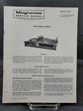 Magnavox Repair Service Parts Manual For 1974 R286 Radio Chassis